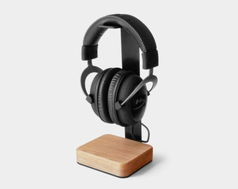 Headphone Stand Wood - Steel and Wood Headphone Holder Makes Great Gift for Music Lover - PREORDER INTRODUCTORY PRICE