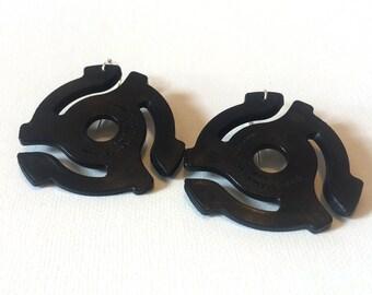 Black 45 Adaptor Earrings