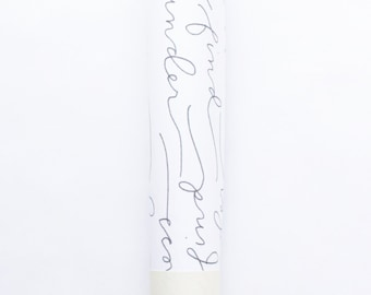 Gift Wrap: Nature Inspired, Calligraphy, Set of 3