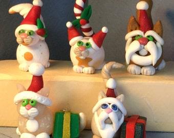 Calendar Cats, December, SANTA CATS!  Choose from 5 styles!