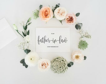 To My Father-In-Law On My Wedding Day, To My Father In Law Card, To My Father In Law On My Wedding Day Card, Wedding Thank You, Wedding Card