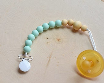 Mint Silicone Pacifier Clip|Binky Clip|Soother|Chewable|Eco Friendly