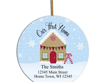 First Home Ornament, Our first home Ornament, New Home Ornament, Home Ornament, Custom Ornament, Personalized Ornament, Christmas Ornament