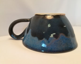 Handmade stoneware cappuccino  cup/soup cup