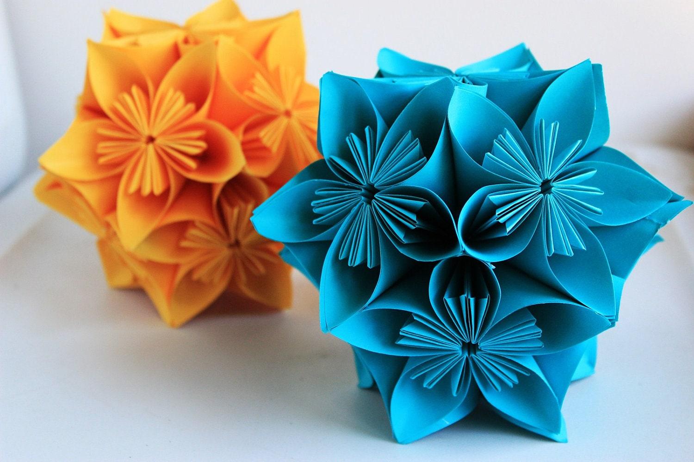Beautiful paper flower ball decorations ideas wedding and flowers kusudama paper flower balls table decor hanging balls mightylinksfo