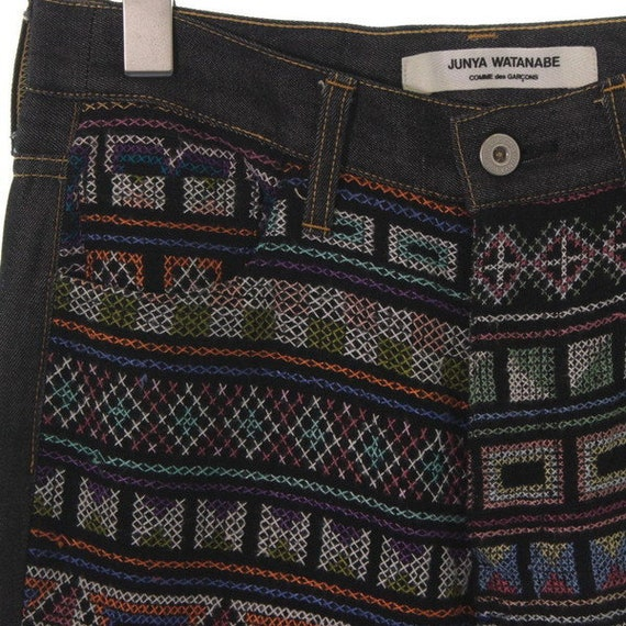 Des Geometric Garcons Watanabe Jeans Comme Ladies Black Pants Denim Junya RxAvgq