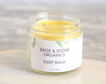 Sleep Balm | Natural Sleep Aid | Vegan Sleep Salve | Beeswax Free | Sleep Salve | Sleepy Time Salve | Dream Salve | Sleepytime Salve