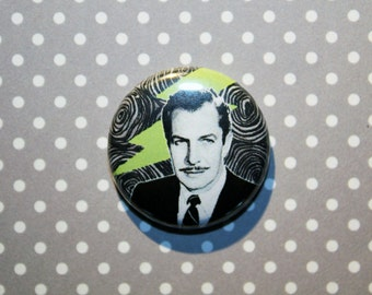 Vincent Price- One Inch Pinback Button Magnet