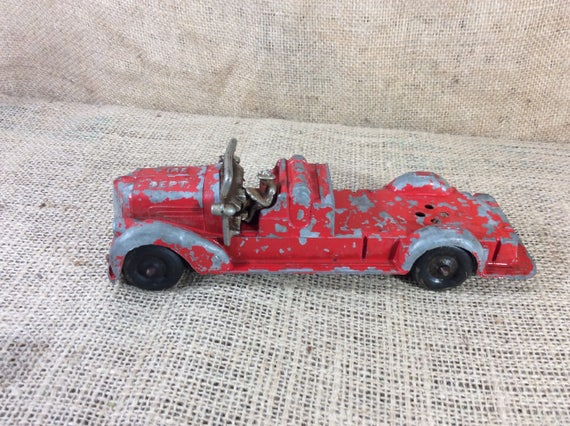 Vintage metal toy fire truck, toy fire truck, metals vintage toys, toys for children, vintage toy decoration, vintage fire truck decoration