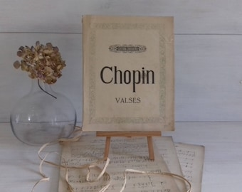Collection waltzes Chopin Editions Choudens 1928 old sheet music antique sheet music, Paris France
