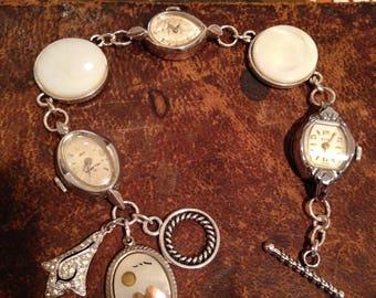 Vintage Watch Assemblage Bracelet