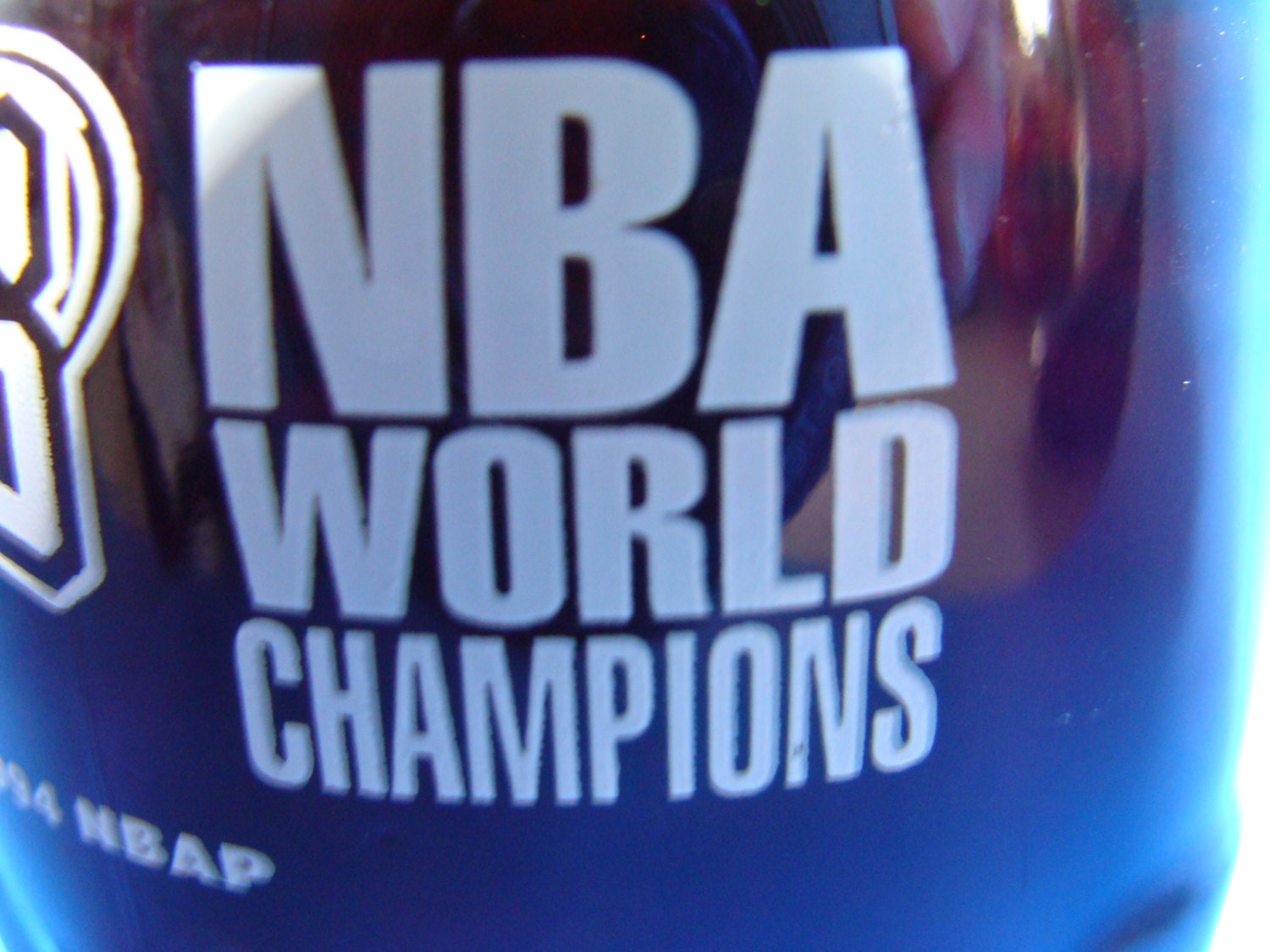 Coca-Cola Full bottle Rockets Basketball NBA World Champion