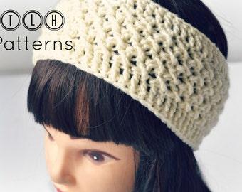 Crochet headband pattern, crochet headwrap, textured headband, earwarmer pattern, X stitch headband, pattern no. 79
