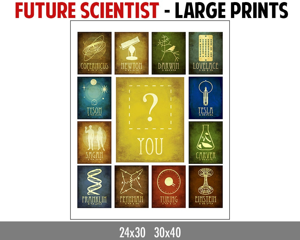 LARGE Inspirational Wall Art Future Scientist Science
