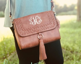 Monogram Crossbody | Monogram Bag | Embroidery Purse | Personalized Handbag | Personalized Crossbody | Monogram Clutch | Flapover