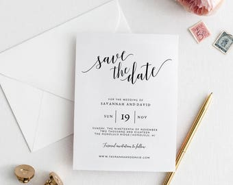 Save the Date Template, Save the Date Cards, Save the Date Printable, Wedding Save the Date, Printable Save The Date , Save Our Date Cards