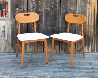 Pair of Midcentury Dining / Side Chairs
