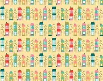 Riley Blake Designs Happy Home Yellow Fabric 1 yard