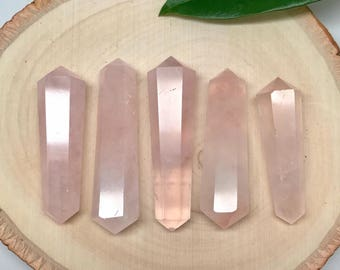 Rose Quartz Double Terminated Point | Double Point | Healing Wand #TP1