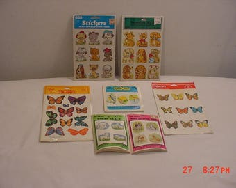 7 Packs Of Vintage Decorative Stickers Never Used  17 - 1389