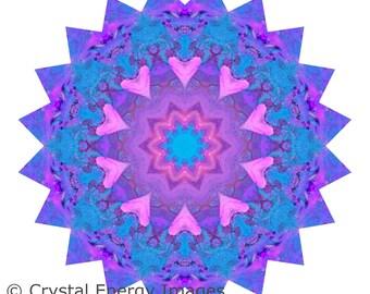 Crystal Ball Mandala Wall Art Print Spiritual Art Photo Yoga Art Reiki Chakra Print Wall Decor Mystical New Age Sacred Geometry Chakra Art