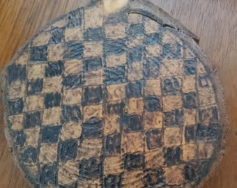 """Coasters Set Of 4 Made From Cedar Wood """"Checkerboard"""""""