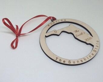 florida ornament, florida Christmas, florida Gift, florida Home Decor, florida state gift
