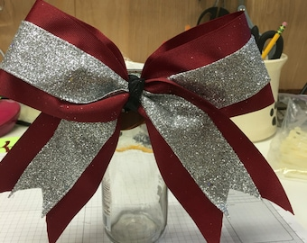 Cheer Ribbon Made to Order in colors you would like  these are 3 different colors