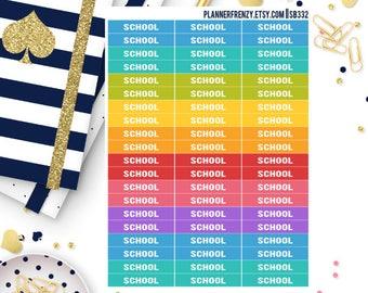60 School Section Header Planner Stickers! SB332