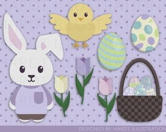 Easter Clipart, Easter Images, Easter Eggs Clipart, Easter Bunny Clipart, Easter Basket, Tulips Clipart, Baby Animals, Easter Decorations