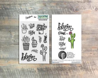 Thirst - 11 Pc Stamp Set For Journaling In Your Bible - Created by Christina Lowery for ByTheWell4God