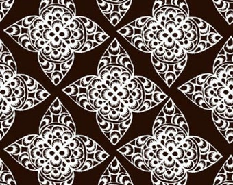 Ty Pennington Home Decorator Weight Fabric, Lace in Espresso, Impressions Collection, 1 Yard