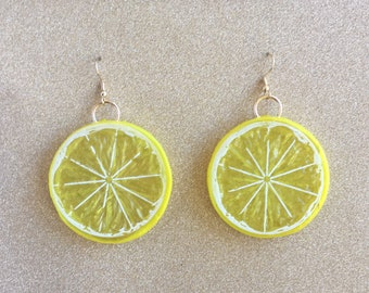 Citrus Slice Earrings (more colours)