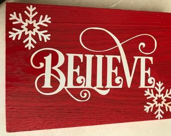 Believe Winter Wall Decor