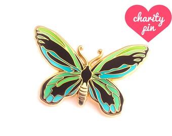 Queen Alexandra's Birdwing Enamel Pin (butterfly pin hard enamel pin lapel pin badge jewelry cute butterfly jewelry cloisonne backpack pins)