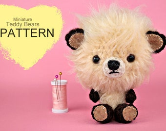 Crochet Pattern - Miniature Crochet Teddy Bears (Pattern No. 043) - INSTANT DIGITAL DOWNLOAD
