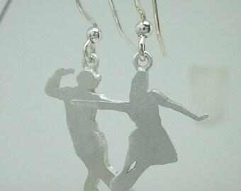 Swing Dance Earrings- Sterling Silver