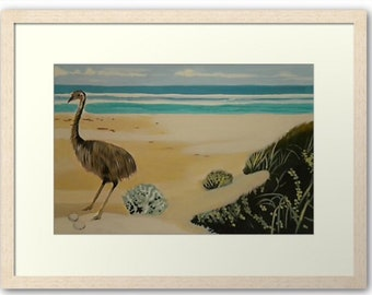 Emu by the sea