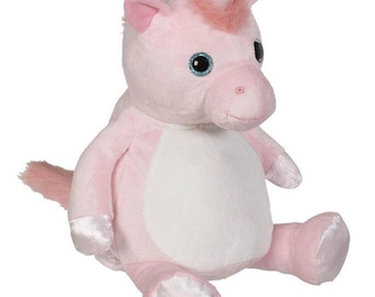 18 inch personalized stuffed pink unicorn