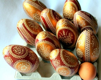 Easter egg , goose egg , pysanka , Hand Decorated , pysanky , unique gift , handmade , easter eggs , Cute Easter Gift