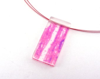 Pink Pendant - Tree Necklace with Bright Pink Wire, Jessica Sherriff
