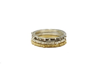 Lorelei Stacking Rings in Gold and Silver
