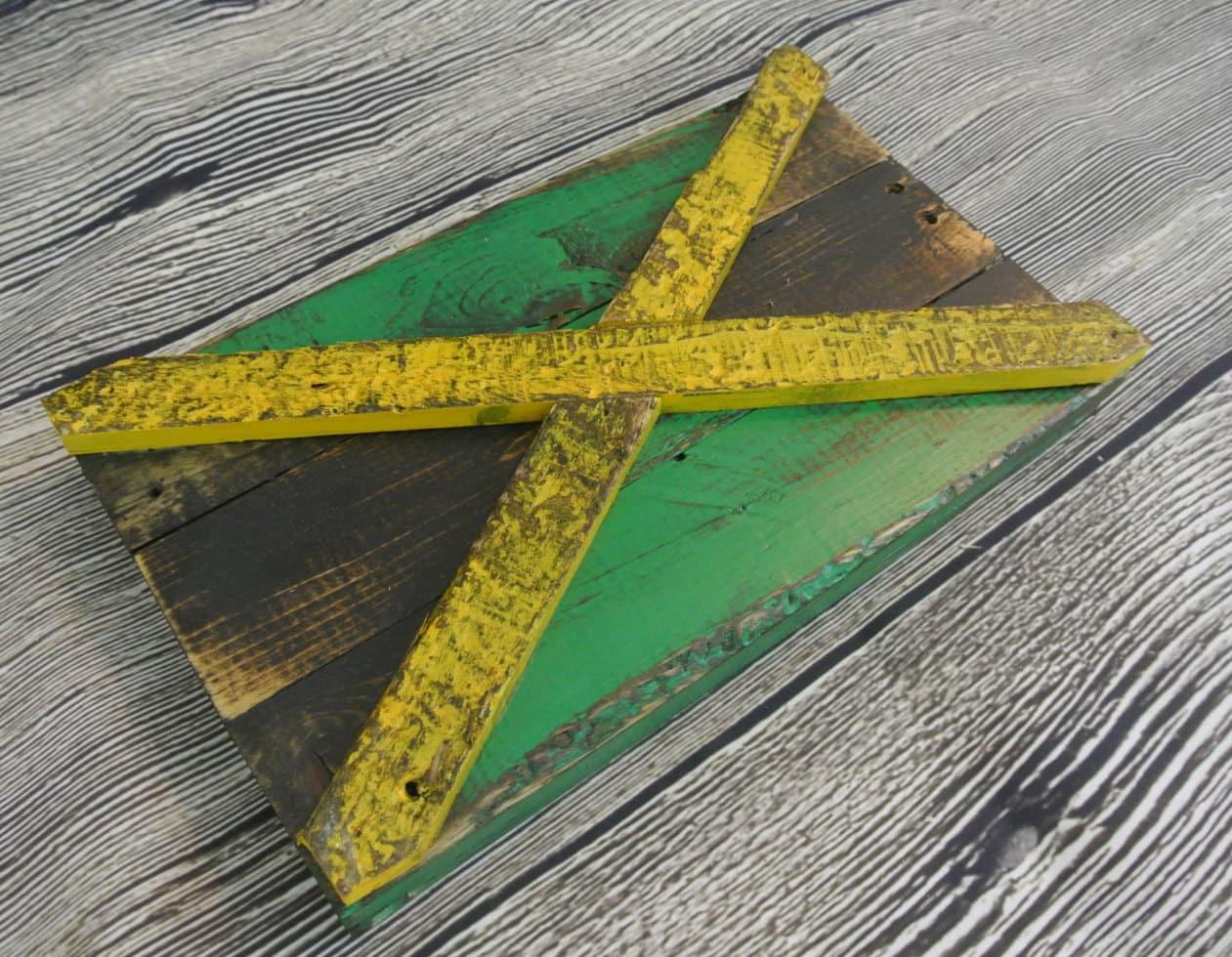 3D Jamaican Flag Jamaica country flag reclaimed wood