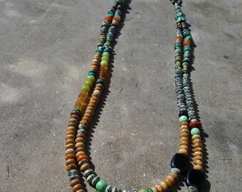 Tumbleweed Double Strand Gemstone Necklace