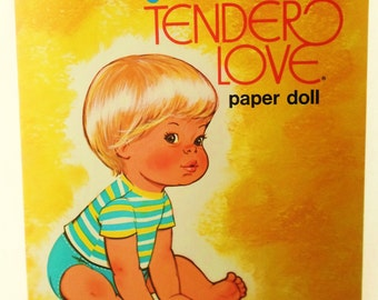 Vintage 1977 Baby Brother Tender Love Paper Doll Book, Mattel Inc., Whitman Book, Uncut, Collectible, Paper Dolls