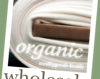 10 Yards Organic Fleece knit fabric Organic Cotton 60 inches wide US Made gots Certified Soft Natural Baby Blanket Backing