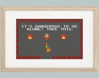 Zelda Link Take This Cross Stitch Pattern