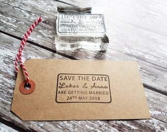 Custom Wedding Stamp, Save the date stamp