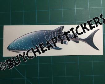 Whale Shark Decal/Sticker 2X7