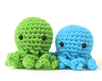 XS Octopus Amigurumi Plushie Stuffed Animal
